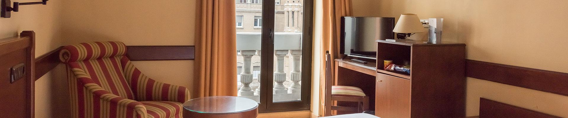 Ein Hotel im Zentrum von Zaragoza: Die Zimmer